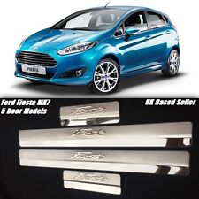 FORD FIESTA MK7 2008 - 2015 5 DOOR SILL PROTECTOR PLATES STAINLESS STEEL MK7