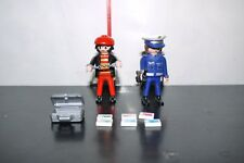 PLAYMOBIL 4269 Police Woman with Thief GERMAN POLIZEI COMPLETE FIGURE SET