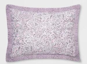 Opalhouse Purple Violet Quilted Paisley Standard Pillow Sham  Nwot