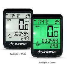 Waterproof Wireless Bike Bicycle Computer LCD Speedometer Odometer Counter Wire