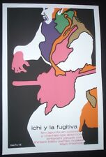 ICHI & FUGITIVE Cuban Silkscreen Poster Movie About Blind Samurai CUBA JAPAN ART