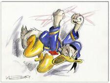 Grantinsch Général: Original PLUME ET AQUARELLE: Donald Duck en rage VI/24x32 cm
