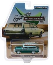 1:64 GreenLight *ESTATE WAGONS 2* GREEN 1955 Chevrolet Nomad w/SURF BOARD NIP