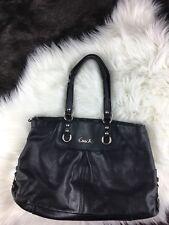 Coach Black carryall purse Leather Shoulder Satchel handbag tote 15513