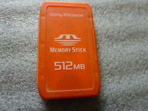 NEW Sony Memory Stick 512 MB in case..