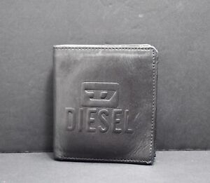 Vintage Diesel Mens Leather Wallet Bifold Black
