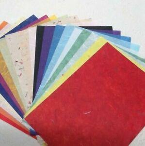 10 sheets 70x50 cm MULBERRY TISSUE 10 different colours unryo strawsilk 25-35gsm