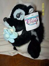 """Disney Store Flower Floppy Plush Bambi With Tag 10"""""""