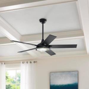"56"" Large Ceiling Fan + Remote Unique Classic Retro Industrial Modern Light"