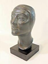 VTG Austin Prod 1966 Head Bust Sculpture Statue Productions Plaster Art Deco HTF
