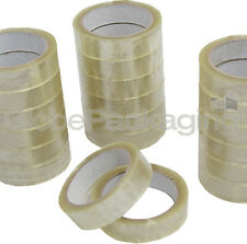 "12 Rolls Clear Packing Tape 25mm 1"" x 66M High Quality"