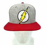 The Flash Logo DC Comics Snapback PU Bill Hat Skateboarding Trucker Cap Gray