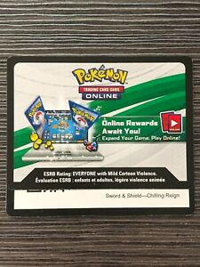 Pokemon SWSH Chilling Reign TCG online code cards (12 count) - Preorder