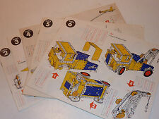 VINTAGE LOT manuel plan MECCANO boite n°2-3-4-5-6 camion PELLE grue HELICOPTERE