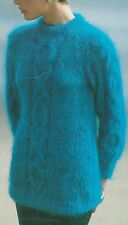 """1432 Ladies Mohair Cable OXO Sweater Vintage Knitting Pattern 32-40"""" 81-102cm"""