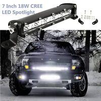 1PCS 7inch 18W Cree LED Work Light Bar 4WD Offroad Spot Fog ATV SUV Driving Lamp