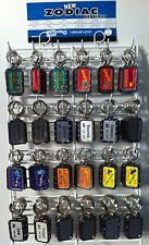 144 Piece New Nickel Plated Zodiac Key Chains 2 Styles on Rack Made In U.S.A