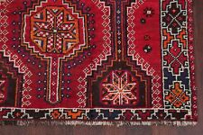 Antique Geometric Abadeh Oriental Area Rug Wool Hand-Knotted Tribal Carpet 5'x8'
