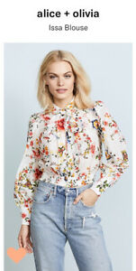 Alice And Olivia Floral Issa Blouse M