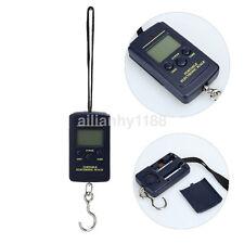 Portable 40kg/10g Electronic Hanging Fishing Digital Pocket Weight Hook Scale UK