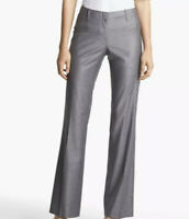 BOSS Hugo Boss Sz 2 Tulia4 Wool Blend Gray Trouser Pants Casual