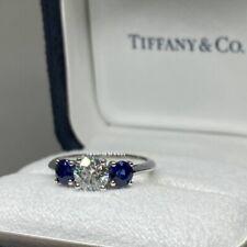 Tiffany & Co Diamond and Blue Sapphire Ring Retail Price $20,600+