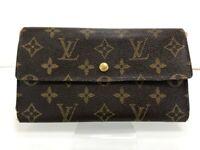 Auth Louis Vuitton Monogram Porte Tresor International Long Wallet 20000033027