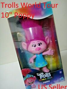 "Hasbro DreamWorks Trolls World Tour Poppy Collectable Doll New 10"" US Seller"
