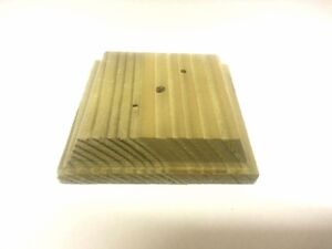 """Finial base for 4"""" fence posts, decking, treated wood"""