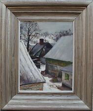 Carl Oscar larsson 1887 - 1962, aldea en invierno, fechado 1955