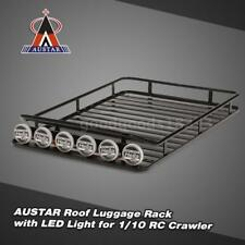 AUSTAR AX-519B Metal Roof Rack Luggage with 6 LED Set for Axial SCX10 RC4WD K3E1