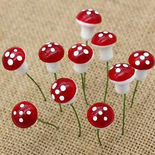 20pcs Miniature Red Mushroom Fairy Dollhouse Garden Ornament Plant Wholesale