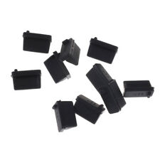 10pcs Black Rubber A Type Female USB Anti Dust Protector Plugs Stopper Cover