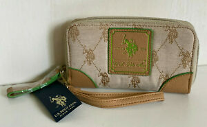 U.S. US POLO ASSOCIATION USPA CHINO VACHETTA ZIP TECH PHONE WALLET WRISTLET $34