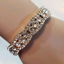 Women Silver Gold Stretch Bracelet Fashion Jewelry