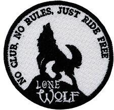 LONE WOLF BIKER PATCH
