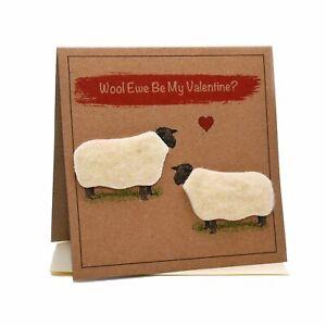 Sheep (Wool Ewe Be My Valentine?) Valentines Card
