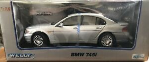 Welly BMW 745i 1:18 Die Cast Silver New In Box