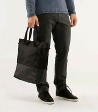 Lululemon Crosstown laptop computer messenger tote Bag black