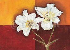 Talantbek Chekirov: Flower and Fire Fertig-Bild 50x70 Wandbild Blumen Lilien