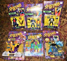 6 Toy Biz Spider-Man Animated Series MORBIUS Nick Fury HYDRO-MAN Green Goblin