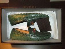 Gucci Men's Caiman Crocodile bamboo Driver Size 8 Retail $1,800