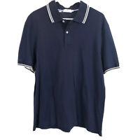 Southern Tide Mens Polo Shirt Navy Blue Size XL Short Sleeve White Trim