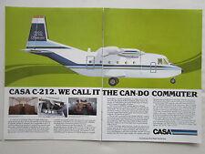6/1982 PUB AVION CASA MADRID SPAIN C-212 STOL AIRCRAFT COMMUTER ORIGINAL AD
