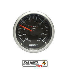 52mm Electric Boost Gauge W/Sensor Clear Lens (Super White LED Display)