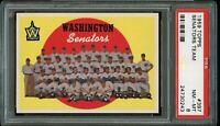 1959 Topps BB Card #397 Washington Senators Team CHECKLIST PSA NM-MT 8 !!!