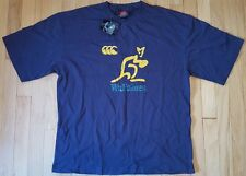 New WALLABIES rugby shirt M Canterbury of New Zealand jersey Australia NWT blue