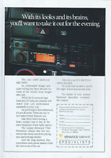 Kenwood Car Hi-Fi KRC 868D 1987 Magazine Advert #3828