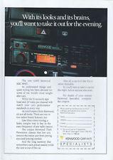 Kenwood Car Hi-Fi KRC 868D 1987 Magazine Advert #3828