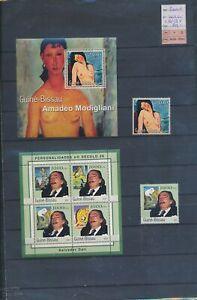 XC89684 Guinea-Bissau 2001 Dali Modigliani art sheets XXL MNH cv 70 EUR